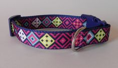 Pink Southwest Dog Collar by RogueCollars on Etsy