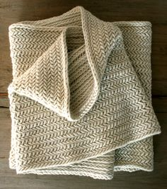 Herringbone stitch over-sized cowl