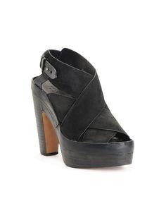 Sloane Platform Sandal - Nero | rag & bone Official Store