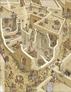La viviendas en la ciudad de Ur ~ Aprenda historia de la humanidad