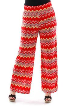 Online Clothing Boutique | Kelly Brett Boutique - Plus Size Palazzo Pants Chevron Red, $14.99 (http://www.kellybrettboutique.com/plus-size-palazzo-pants-chevron-red/)