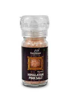 Himalayan Pink Salt Packed in Glass Jar with Grinder Cap - 95 g Connoisseur Selection http://www.amazon.in/dp/B00N3VB64M/ref=cm_sw_r_pi_dp_3SKovb1887G9C