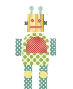 Robot Nursery Art PRINT  - Three Robot Prints 11x14, Childrens Wall Decor, Kids Art, Robot Decor, Baby Boy Nursery Decor, Art for Children