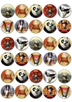 30 St. Kung-Fu Panda Bildersammlung essbarer Cupcake Deko Premium Reispapier 240 | eBay