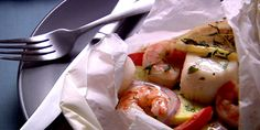 Seafood in parchment parcels - Anna Olson