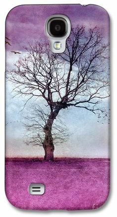 ATMOSPHERIC TREE - Morning Glow, #Samsung #Galaxy #S4 #Case / Samsung Galaxy S4 #Cover for Sale by VIAINA