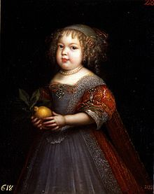 Marie therese de bourbon Madame Royal (1667-1672) daughter of Louis XIV