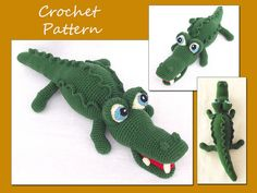 Amigurumi Alligator Pattern Crochet Crocodile von LovelyBabyGift, $5.50