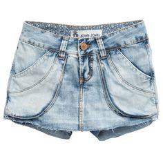 Shorts saia jeans claro