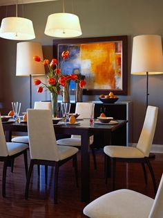 COLORFUL living room dining room combo designs | Our Fave Colorful Dining Rooms
