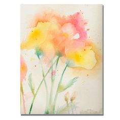 'Garden Poppies' by Sheila Golden Painting Print on Canvas | Wayfair