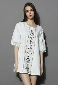 Lovely Prairie Dolly White Tunic - New Arrivals - Retro, Indie and Unique Fashion