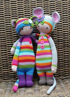 RADA the rat and Mouse mod made by Patricia N. / crochet pattern by lalylala