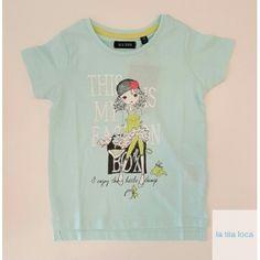 Camiseta de niña blue seven en www.latitaloca.com  Envios gratis  Precio 9,90€
