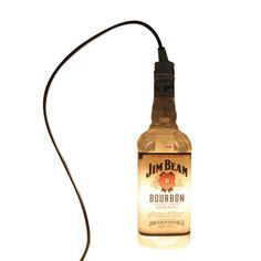 Jim Beam Upcycled Liquor Bottle Hanging Lamp