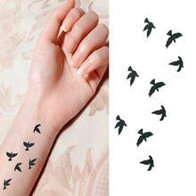 Femmes Sexy Finger poignet Flash faux tatouage autocollants liberté petits oiseaux voler modèle étanche tatouages temporaires autocollant(China (Mainland))