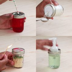 The best DIY projects & DIY ideas and tutorials: sewing, paper craft, DIY. Ideas About DIY Life Hacks & Crafts 2017 / 2018 4 Ways To Transform A Mason Jar Lid -Read Pot Mason Diy, Mason Jar Lids, Mason Jar Kitchen, Ideas With Mason Jars, Mason Jar Soap Pump, Mason Jar Storage, Mason Jar Projects, Mason Jar Crafts, Do It Yourself Videos