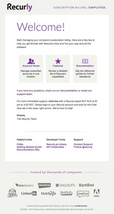 Welcome-Email-Design-from-Recurly welcome email