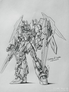 GUNDAM GUY: Awesome Gundam Sketches by VickiDrawing [Updated 3/10/16]