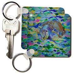 kc_19312_1 Taiche Acrylic Art - Sealife Loggerhead Turtle - Key Chains - set of 2 Key Chains 3dRose http://www.amazon.com/dp/B0051CU480/ref=cm_sw_r_pi_dp_7piiwb0AVXARV