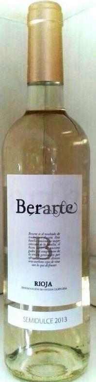 Berarte Blanco Semidulce 2013, 100% Viura