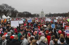 Protesters gather on the National Mall for the Women's March on Washington during the first full day of Donald Trump's presidency, Saturday, Jan. 2017 in Washington. Political Rally, National Mall, Equal Rights, 5 Ways, Girl Power, Donald Trump, Washington, Around The Worlds