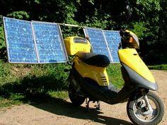 A #solar powered scooter! #DIY - Learn more: http://community.familyhandyman.com/tfh_group/b/diy_advice_blog/archive/2011/09/06/diy-solar-power-projects.aspx