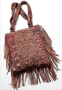 American Hippie Bohemian Boho Bohéme Feathers Gypsy Spirit Style Bag