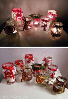 Świąteczne Świeczniki ze Słoików Yule Crafts, Christmas Crafts To Make, Felt Christmas Decorations, Handmade Decorations, Christmas Time, Diy And Crafts, Merry Christmas, Xmas, Jar Lid Crafts