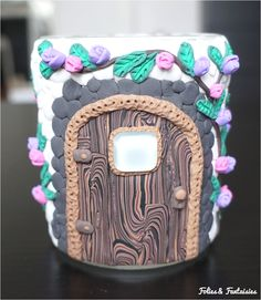 Polymer clay fantasy jar Folies & Fantaisies