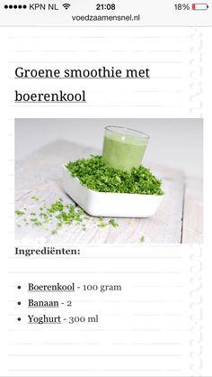 Groene smoothie boerenkool