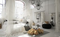 Get inspired with bedroom ideas and photos for your home refresh or remodel. offers thousands of design ideas for every room in every style. Use these beautiful bedrooms as inspiration for your own fabulous scheme. Bedroom Green, Cozy Bedroom, White Bedroom, Bedroom Decor, Bedroom Ideas, Bedroom Styles, Whimsical Bedroom, Bohemian Bedroom Design, Decoration Inspiration