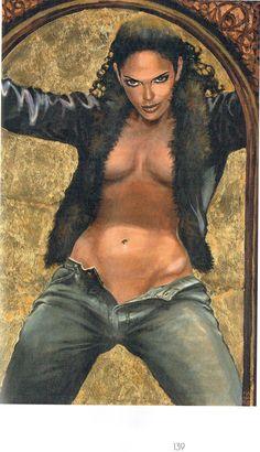 Milo Manara - Vol. 20, Il Pittore e la Modella-139 (La ragazza su sfondo d'oro)