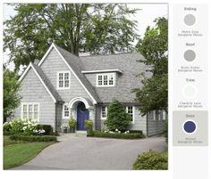 Addition off the left side of the house... cottag, color schemes, exterior, front doors, paint colors, hous, paints, homes, garden