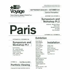 +81 voyage or Tokyo Graphic passport World Tour---At Center Pompidou in Paris and 3331 Tokyo