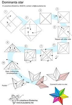 6 pointed modular star