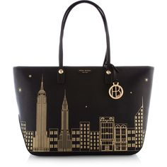 Henri Bendel West 57th E/W New York Skyline Tote found on Polyvore
