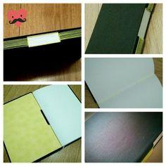 Longstitch Buttonhole | Capa com revestimento de couro fake preto | Guarda com tecido laminado | by Fernanda Pasqualeto