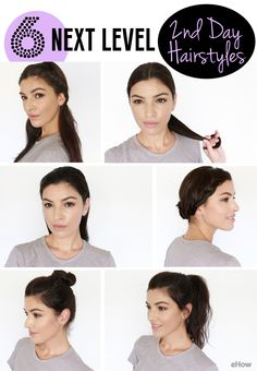 6 DIY Hairstyles That Take Second-Day Hair to the Next Level - Second day hair is actually preferred when it comes to styling your hair! A little bit of oil hair - Rainy Day Hairstyles, Second Day Hairstyles, Great Hairstyles, Heatless Hairstyles, Medium Hair Styles, Curly Hair Styles, Natural Hair Styles, 2nd Day Hair, Light Hair
