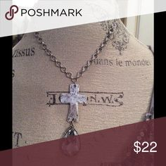 Burnished silver cross necklace Beautiful burnished silver cross necklace Jewelry Necklaces