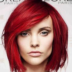 Repinning this because it tells you how to recreate the look, including the haircolor!!!!!!!!!!!!!  L'Oreal Paris Preference in P67 Intense Red. Can't wait to try this color AND the new Vidal Sassoon Runway Red :D