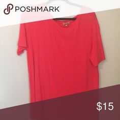 Dark Orange short sleeved Piko Dark Orange short sleeved Piko Piko 1988 Tops
