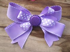 Purple Bottle Cap Hair Bow by thehoneybeeshop on Etsy, $9.00