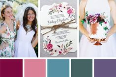 A pretty Jewel-Toned Blooms Colour Palette made up of beautiful gemstone tones all with a floral twist...