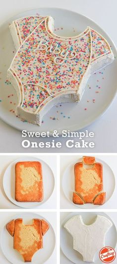 this super cute onsie cake for your baby shower celebration. (easy sweets f., Make this super cute onsie cake for your baby shower celebration. (easy sweets f., Make this super cute onsie cake for your baby shower celebration. (easy sweets f. Baby Cakes, Cupcake Cakes, Diaper Cakes, Party Cupcakes, Cake For Baby, 3d Cakes, Cupcake Ideas, Onesie Cake, Baby Onesie