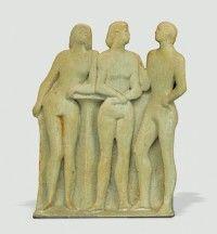 Keramikmuseum Westerwald - 'Ballettpause' (museum-digital:rheinland-pfalz)Gisela Schmidt-Reuther, Rengsdorf, 1977