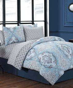Another great find on #zulily! Blue Portofino Eight-Piece Bedding Set #zulilyfinds