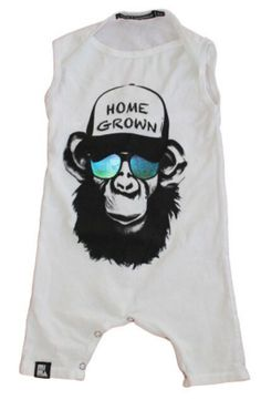 Mini and Maximus Homegrown Monkey Romper This 100% organic cotton 40/1 jersey romperis very soft, and has a cute slim-fit. Made in the USA.  See all Mini &am