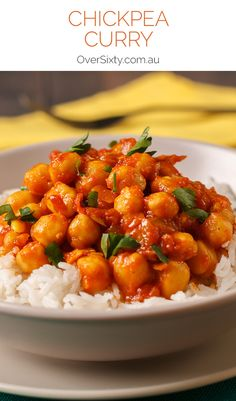 Chickpea Curry Recipe - this is a healthy, warming, cheap, filling vegetarian dinner option.