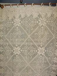 Resultado de imagem para cortina croche file barbante